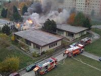 Požiar na Znievskej ulici v Petržalke