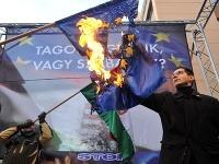 Obhorená vlajka EÚ