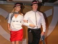 Oblečenie slovenských olympionikov predviedli Marianna Ďurianová a Vlado Voštinár.