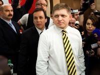 Robert Fico v centrále strany
