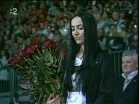 Majka Demitrová pri Uvedení jej manžela Pavla Demitru do hokejovej Siene slávy.
