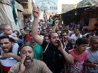 Prostestujúci dav v Palestíne