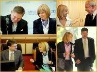 Ministerka Zvolenská svojím úsmevom odzbrojuje kolegov.