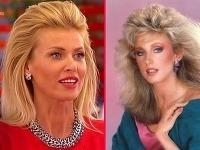 Daniela Peštová pripomenula 80. roky - podobný účes vtedy nosila americká  herečka Morgan Fairchild. c0eb7a75cf