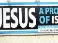 Provokatívny bilbord hlása: Ježiš bol prorok islamu