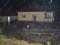 Domy v obci Píla zaplavila voda,