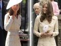 Kate Middleton na svadbe včera a v roku 2006