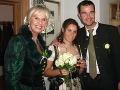 Eva Máziková na svadbe svojho jediného syna.