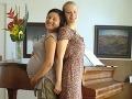 Hanka Lasicová v čase, keď mala tehotenské bruško.