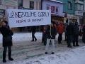 Protest Gorila v Poprade