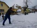 Odhŕňanie snehu v Batizovciach
