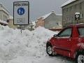 sneh Turzovka  pešia zóna