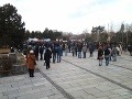 Demonštranti na Námestí Slobody