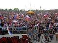 Košickí fanúšikovia počas finále Slovensko - Rusko.