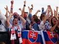 Bratislavskí fanúšikovia počas finále Slovensko - Rusko.