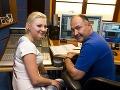 Ivanna Bagová a Michal David pri spoločnej nahrávke.