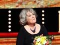 Herečka Božidara Turzonovová bola z ocenenia dojatá.
