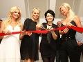 Marianna Ďurianová, Simona Krainová a Lucie Bílá otvárali nový salón krásy.