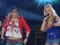 Markéta Poulíčková (vpravo) v súťaži Hlas Česko Slovenska