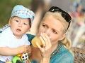 Aneta Parišková dodržovala pitný režim, samozrejme, že nezabudla ani na syna.