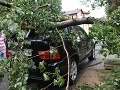 Silná búrka na východe strhávala strechy a vyvracala stromy!