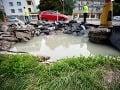 Vodiči pozor: Cesta pri bratislavskom PKO je zatopená, uzavreli oba pruhy