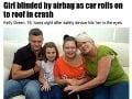 Dievča (16) už nikdy neuvidí, airbag jej vtlačil očká do lebky!