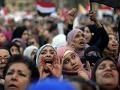 Desaťtisíce ľudí v Káhire demonštrovali proti prezidentovi