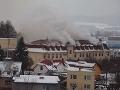 Veľký požiar v Bytči: Horela budova bývalej Makyty!