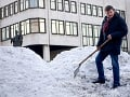 Obrovská kopa snehu nedala Hlinovi pokoj: Pozrite, čo z nej vytvoril!