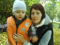Mamička Soňa s malým Tobiaskom