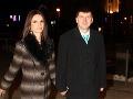 Moderátor Andrej Bičan s manželkou Editou.
