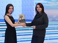 Ocenenie pre kulinársku reláciu Masterchef v kategórii Najlepšia reality šou prevzala hovorkyňa televízie Markíza Tatiana Tóthová.