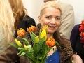 Medzi gratulantmi sme stretli aj Haninu kolegyňu Anetu Sedlmair-Pariškovú.