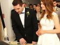 Zábery zo svadobného obradu.