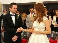 Adam Zavřel a Hana Gallová pred svojim manželským sľubom.