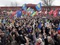 Tisíce demonštrovali v Charkove za prepustenie Tymošenkovej
