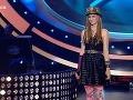 Sabina Křováková mala na hlave výrazný klobúk - podobne ako speváčka v klipe ku skladbe What´s Up.