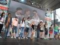 Súťažiaci zaspievali aj spoločnú pieseň.