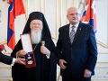 Prezident udelil arcibiskupovi Bartolomejovi I. štátne vyznamenanie