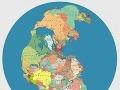 Pangea s politickým usporiadaním krajín