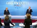 Televízny duel Merkelovej a jej vyzývateľa nemal jasného víťaza