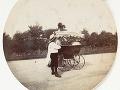 Žena, chlapec a kočík, cca 1890.