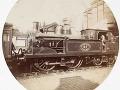 Parná lokomotíva, cca 1890.