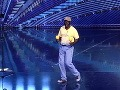 David Mavungu Mbudi prišiel na pódium plný energie.