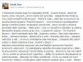 Plné znenie statusu Patrika Tkáča