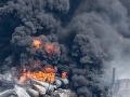 Po požiari cisternového vlaku