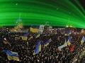 300 000 ľudí demonštrovalo v nedeľu za mrazivého počasia v Kyjeve