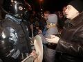 Nočné protesty na Ukrajine