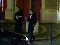 Zabávač Dano Dangl a jeho manželka Beáta sa na plese zdržali o čosi dlhšie.